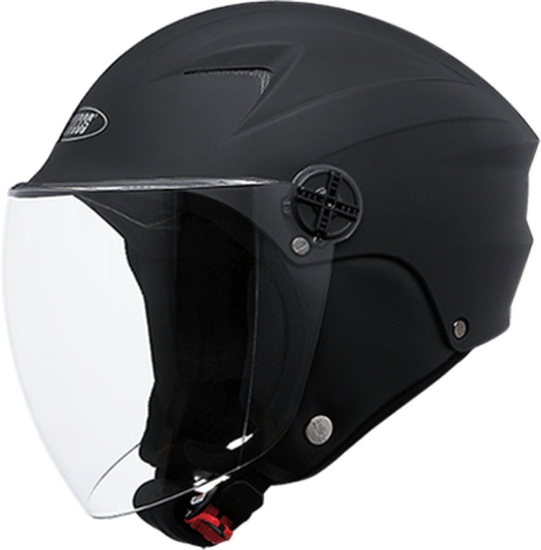 Studds Dame Open Face Motorbike Helmet(Black)