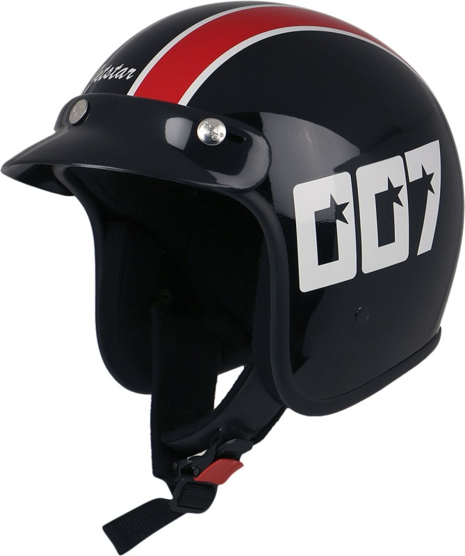 Anokhe Collections James Bond Style 007 Motorbike Helmet(Black Glossy)