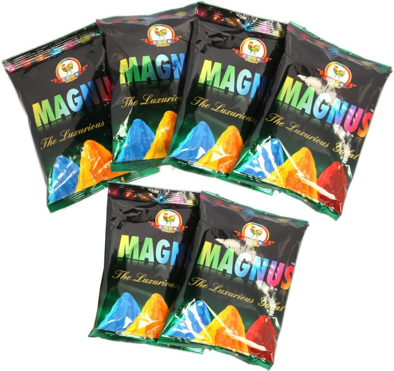 Ghasitaram Gifts Holi Color Powder Pack of 6(Green, Pink, Red, Yellow, 480 g)
