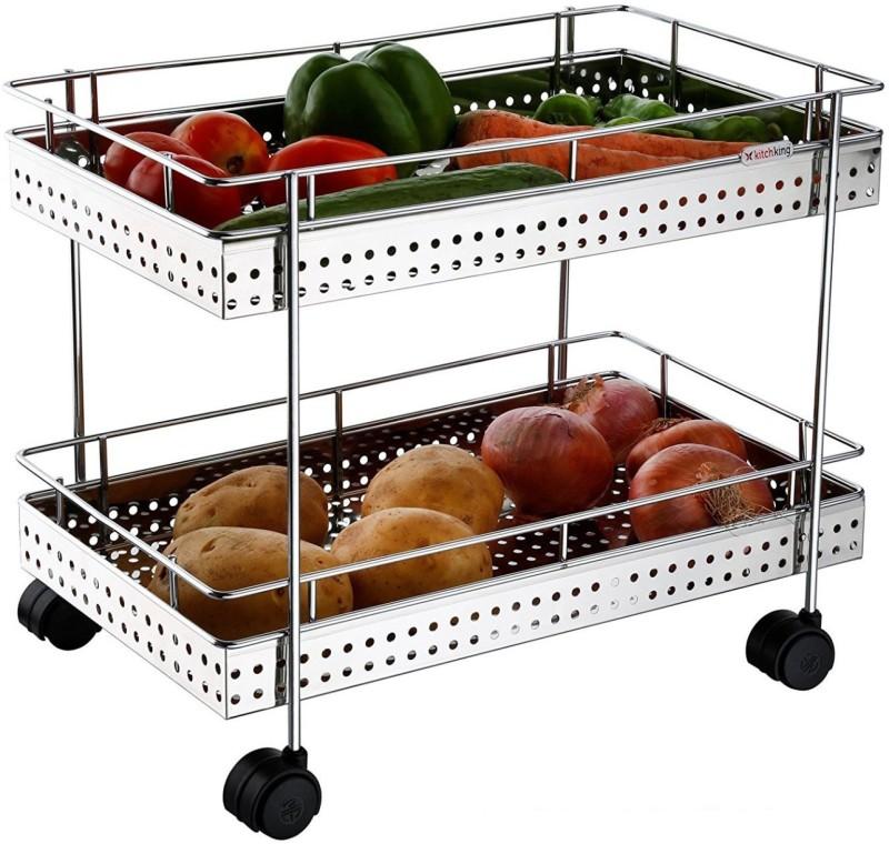 Skyzone Unique Design 2 Layer Stainless Steel Kitchen Trolley