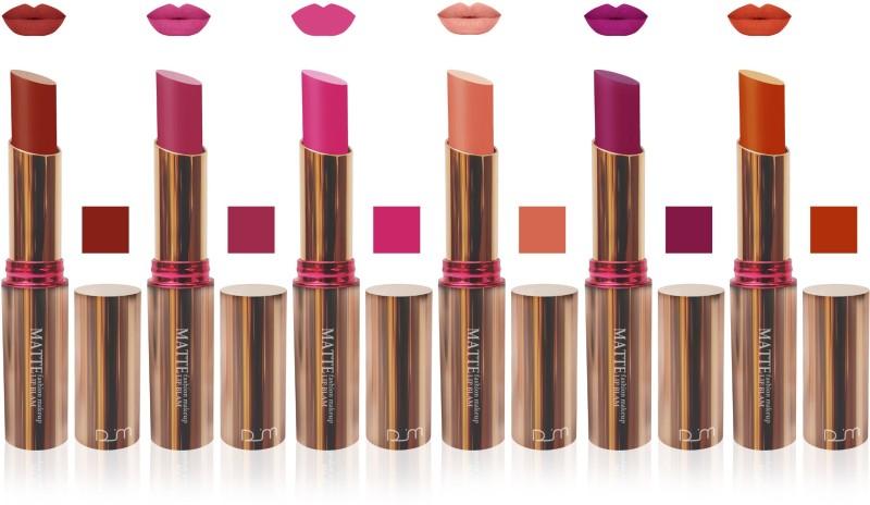 FEMINA09 seven seas vlvet matte lipstic makeup cosmetic 7 day series colletion combo mi set of 6(Multicolor, 30 g)
