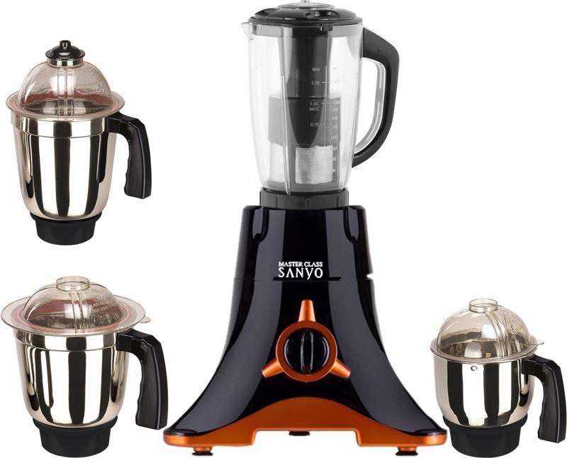 MasterClass Sanyo MG TA FEB 18 MG18 TA 267 ( 1 Large Jar, 1 Medium Jar and 1 Chuntey Jar) 600 W Juicer Mixer Grinder(Black, 4 Jars)