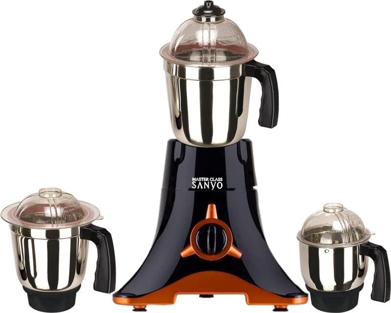MasterClass Sanyo MG TA FEB 18 MG18 TA 251 ( 1 Large Jar, 1 Medium Jar and 1 Chuntey Jar) 550 W Mixer Grinder(Black, 3 Jars)