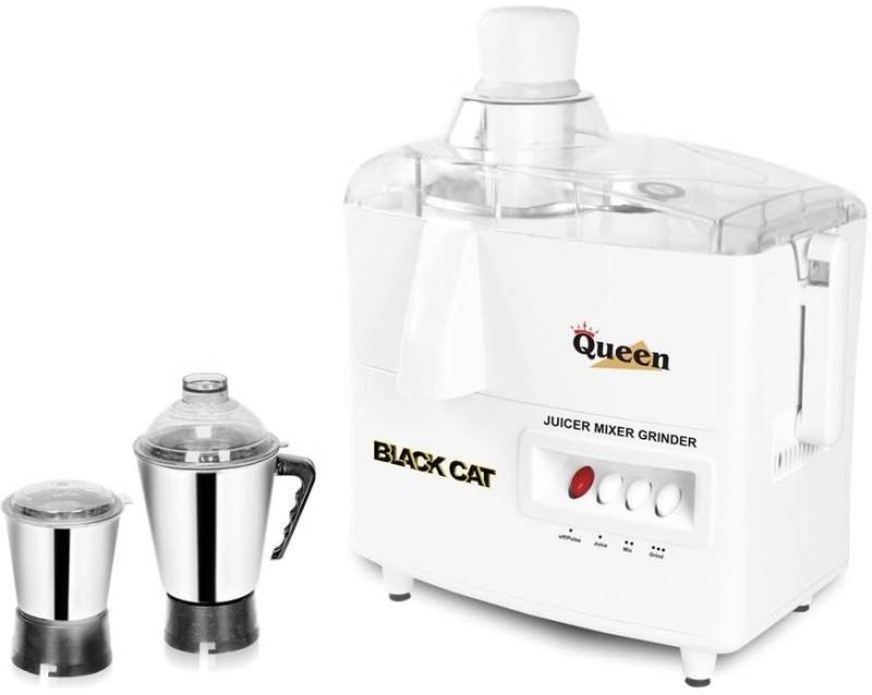 SE Black Cat Queen 450 Juicer Mixer Grinder(White, Silver, 2 Jars)