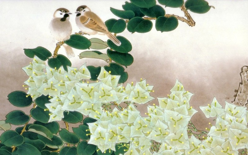 Lovely Birds on Tree Poster Paper Print(12 inch X 18 inch, Rolled)