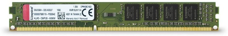 Kingston Kingston Technology DDR3 4 GB PC (1600MHz DDR3L Non-ECC CL11 DIMM 1.35V Memory KVR16LN11 4)