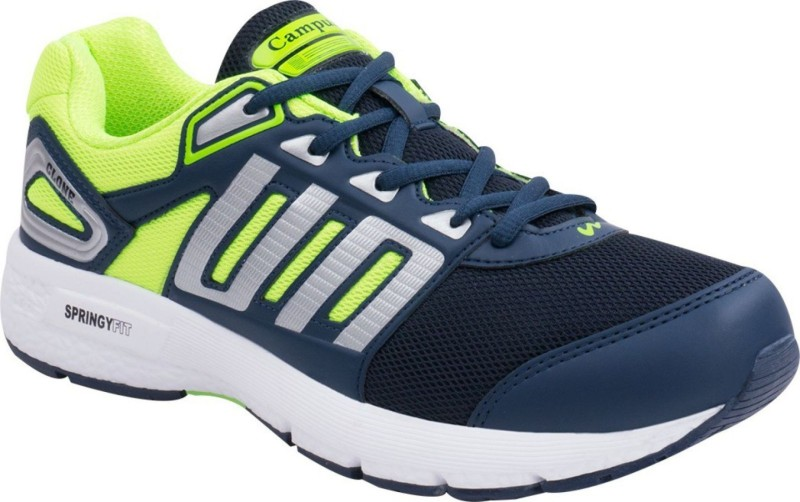 Campus Campus CLONE Blu/Sil/P.Grn Men Running Shoes Running Shoes For Men(Blue, Silver, Green)