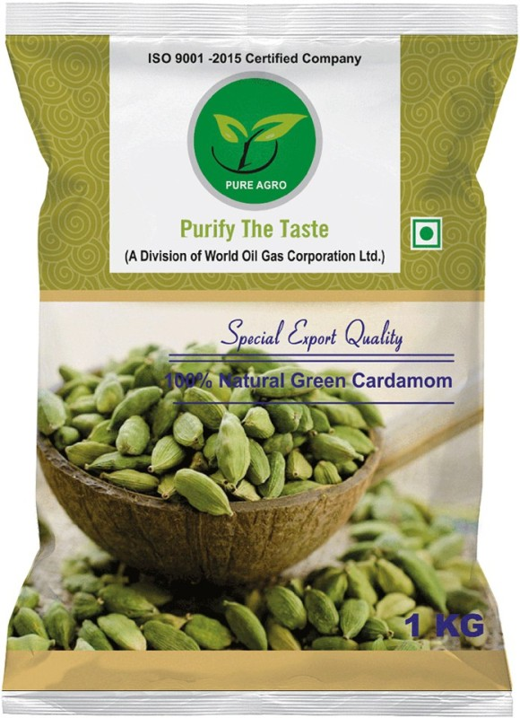 Pure Agro Green Cardamom - Elaichi(1 kg)