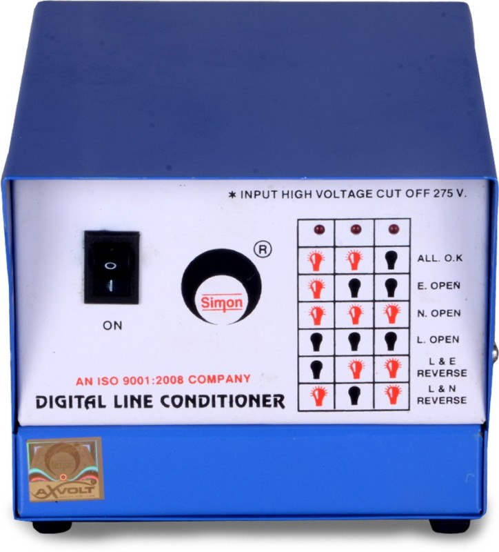 simon 0.5 KVA DlC Voltage Stabilizer ( DLC ) for Computer(white and blue)
