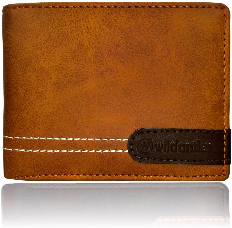 Wildantler Boys Tan, Brown Artificial Leather Wallet(6 Card Slots)