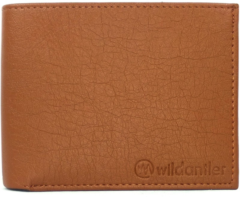 Wildantler Boys Tan Artificial Leather Wallet(6 Card Slots)