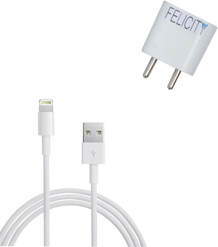 Felicity APP_368 1 A Tablet Charger with Detachable Cable(White, Cable Included)