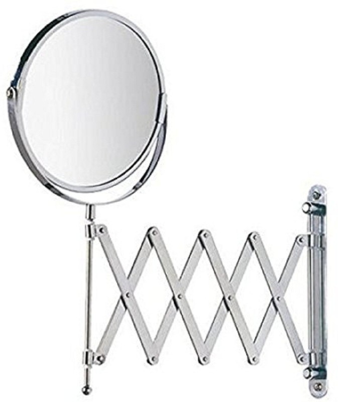 Foolzy Makeup Mirror 8-Inch 3x / 1x Magnification Shaving Mirror / Bathroom Mirror Two-Sided Swivel Extension Wall Mount Mirror MIR-3