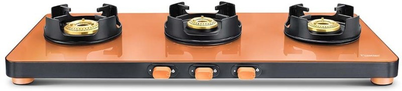 Prestige Edge Glass Manual Gas Stove(3 Burners)