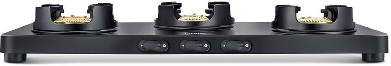 Prestige Edge Black Glass Manual Gas Stove(3 Burners)