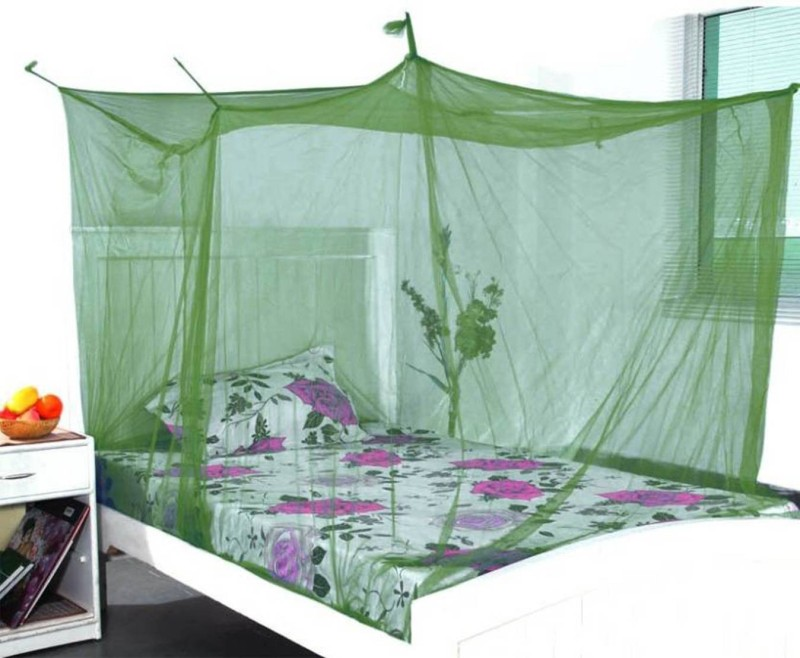 Shreejee Nylon Adults single Bed Dark Green color Mosquito Net 3x6 feet 1 Mosquito Coil