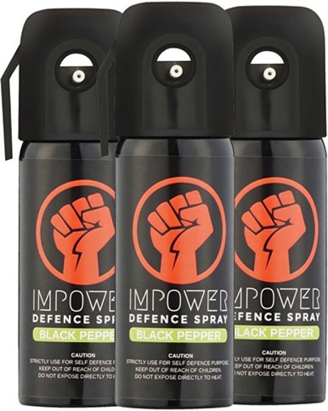 IMPOWER Self Defence Black Pepper Spray Pepper Stream Spray