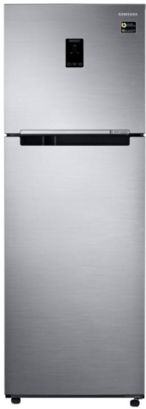 Samsung 345 L Frost Free Double Door Top Mount 3 Star Refrigerator(Elegant Inox, RT37M5538S8/HL)