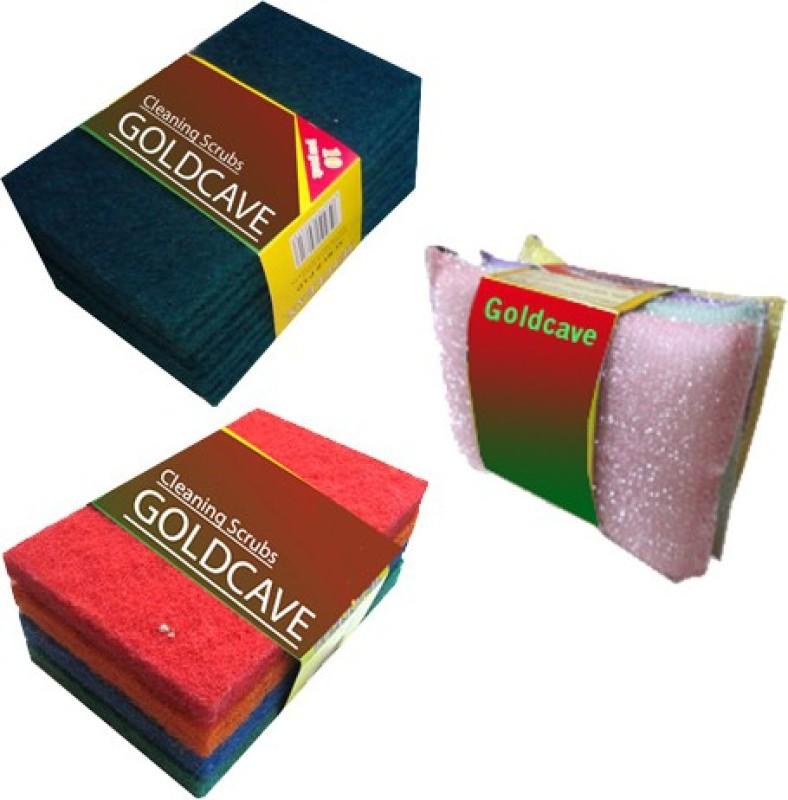 Goldcave Scrub Pad and Sponge Combo Scrub Pad, Scrub Sponge(Regular, Pack of 3)