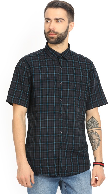 Allen Solly Mens Checkered Casual Spread Shirt