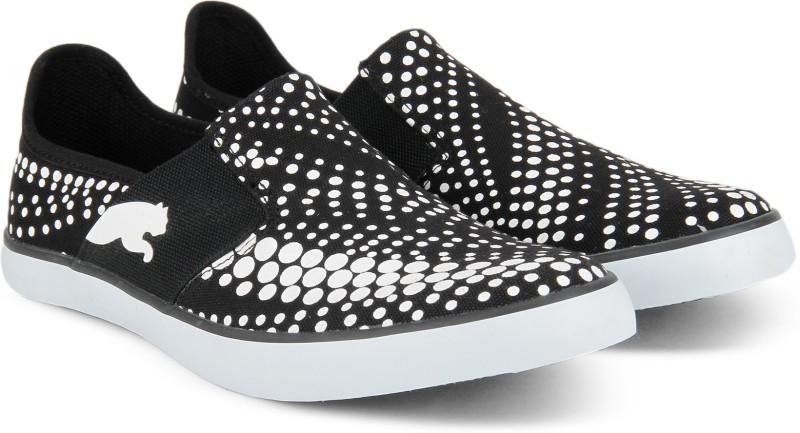 Puma NU Ballet DP Slip On Sneakers For Women(Black, White)