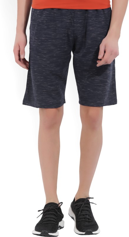 Fila Solid Mens Blue Sports Shorts