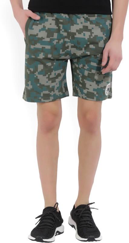 Converse Geometric Print Mens Green Basic Shorts