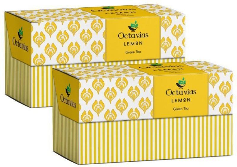 Octavius Classic Lemon(Pack of 2) Lemon Green Tea Bags(25 Bags, Box)