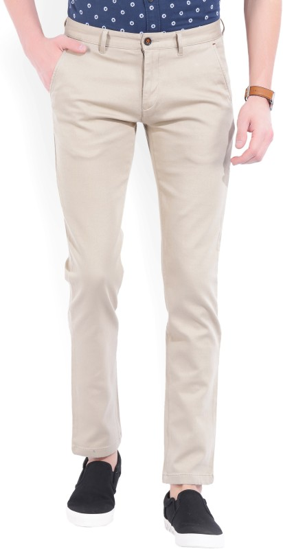 Arrow Sport Slim Fit Mens Cream Trousers