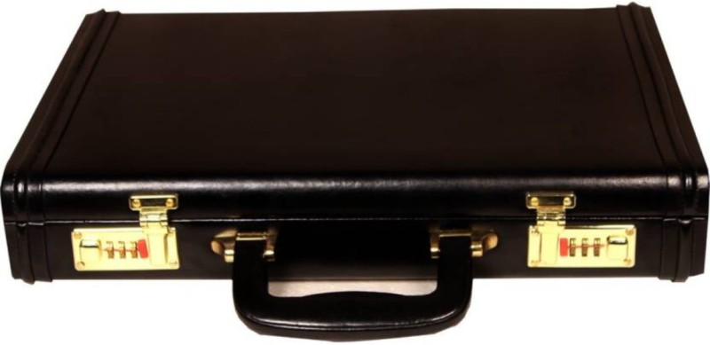 C Comfort Faux leather briefcase Black Small Briefcase - For Men & Women(Black)