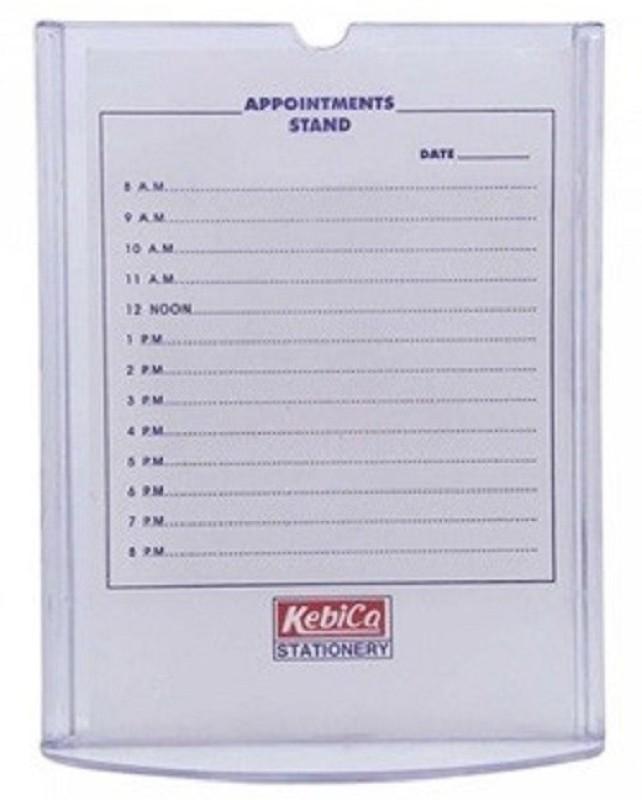 SMKT B5 (7X10 ) VERTICAL STAND SET OF 2 SMK_Transparent Name Plate Holder