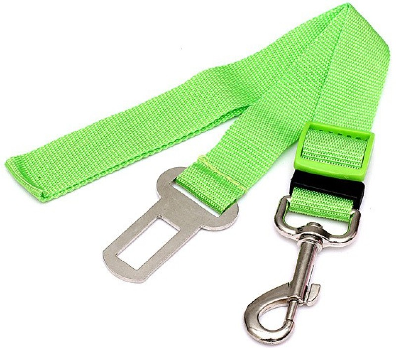 Tradesk pet seat belt green Pet Seat Belt(Small)
