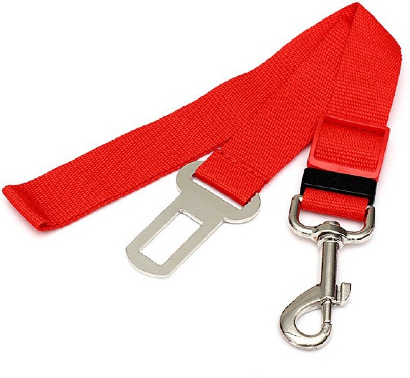 Tradesk Dog Seat Belt Red Pet Seat Belt(Small)