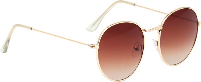 Vast Round, Oval Sunglasses(Brown)