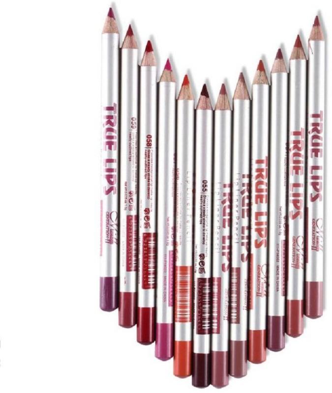 MN True Lips water proof Lip Liner Pencil(multi coloured)