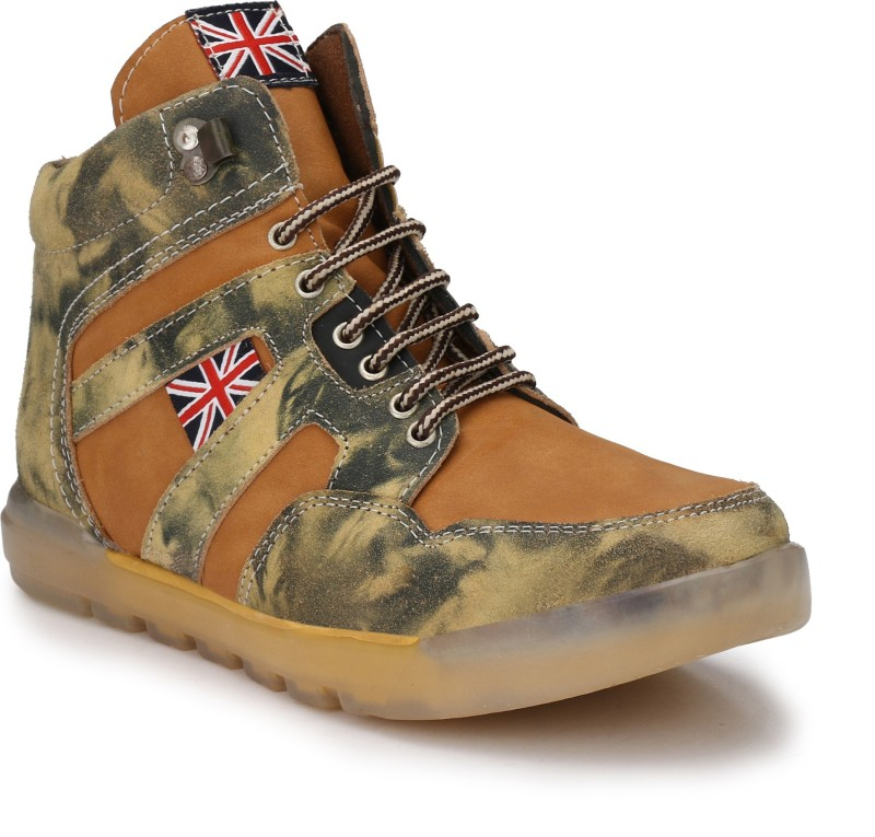 Eego Italy Stylish Outdoor Boots For Men(Tan)