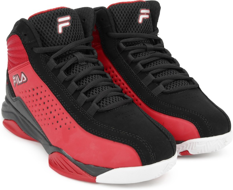 Fila ENTRAPMENT 3 Basketball Shoes For Men(Red, Black)