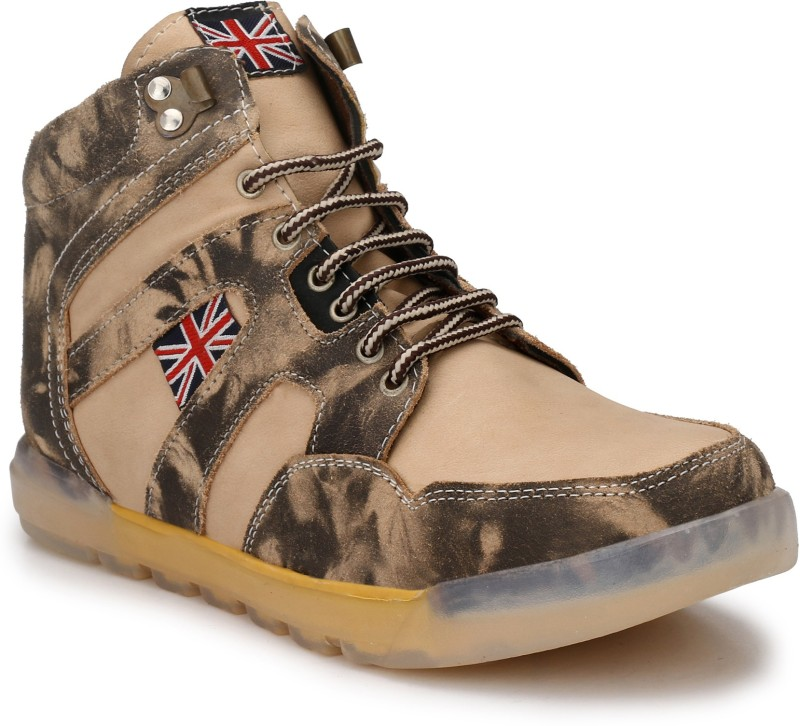 Eego Italy Stylish Outdoor Boots For Men(Beige)