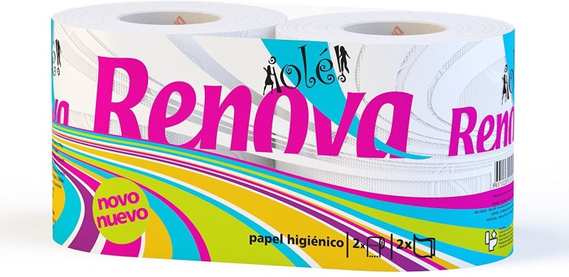 Renova Ole Toilet Paper 2 Roll Toilet Paper Roll(2 Ply, 120 Sheets)