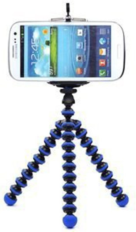 Boom Octopus style Portable Adjustable Tripod Stand with Retractable Holder for Apple iPhone 3G 3GS 4 4s iPhone 5 5c 5s Samsung Galaxy s3 i9300 s4 i9500 Tripod(Black, Blue, Supports Up to 3000)