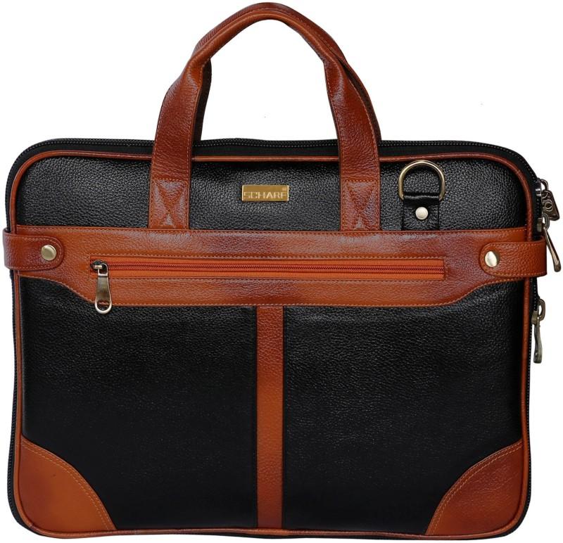 Scharf Sir Dom Bert-Z-Walker Medium Briefcase - For Men & Women(Black)