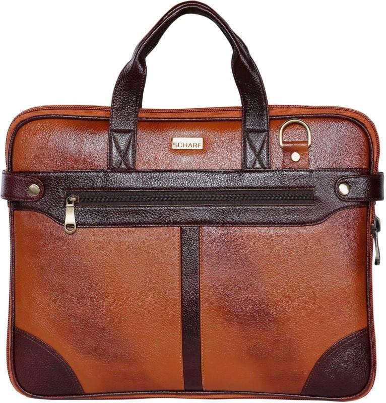 Scharf Sir Dom Bert-Z-Walker Medium Briefcase - For Men & Women(Tan)