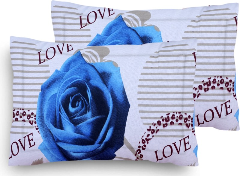 Home Elite Floral Pillows Cover(Pack of 2, 45*69, Multicolor)