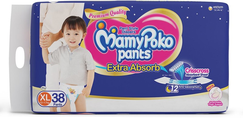 MamyPoko Pants - XL(38 Pieces)
