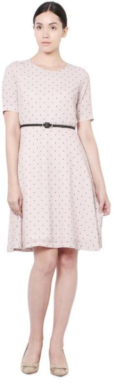 Allen Solly Women A-line Beige Dress