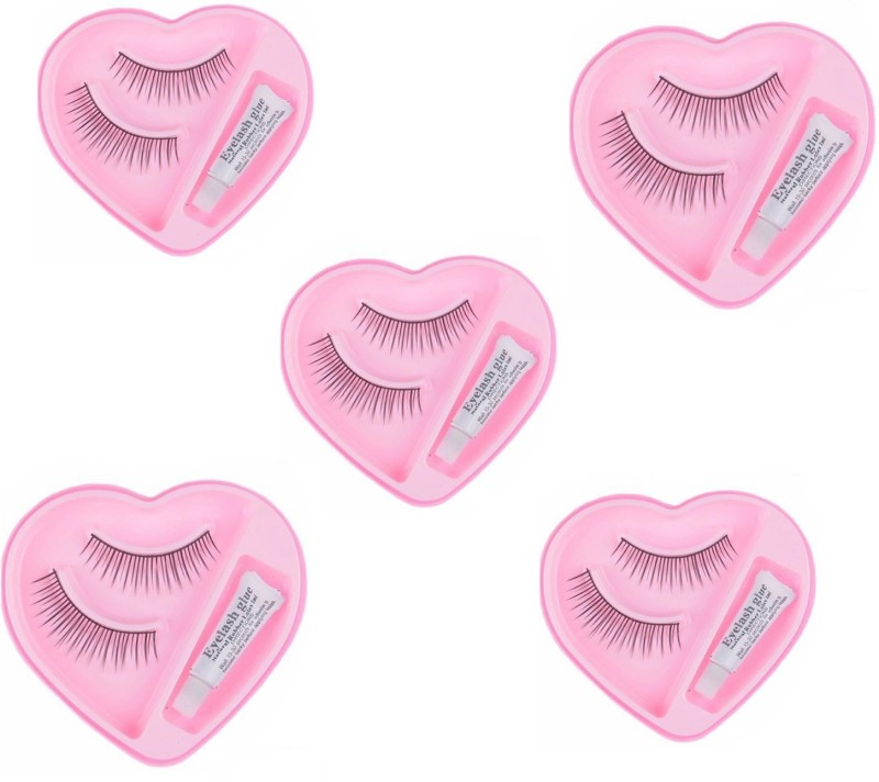 NERR Charming Eyelashes (Pack Of 5 Pairs With Glue) (Pack of 5)(Pack of 5)