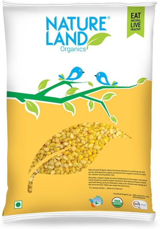 Natureland Organics Unpolished White Moong Dal (Split)(500 g)