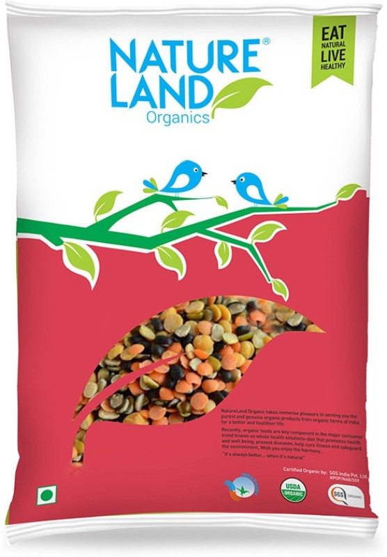 Natureland Organics Mix Beans (Split)(1000 g)
