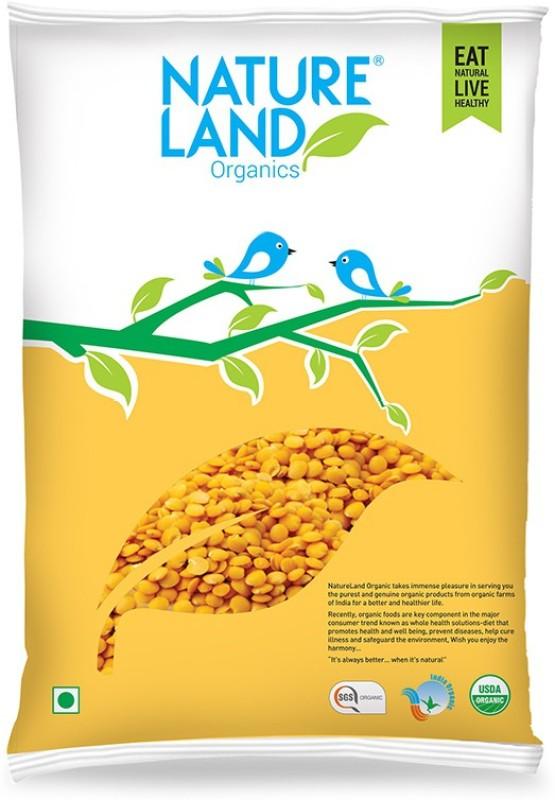 Natureland Organics Unpolished Yellow Arhar Dal (Split)(1000 g)