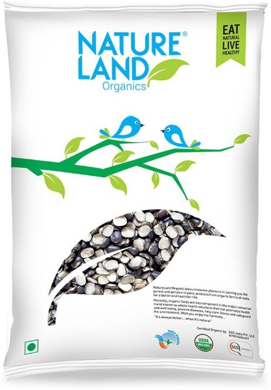 Natureland Organics Unpolished Black Urad Dal (Split)(500 g)